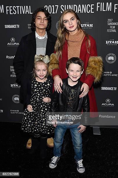 Actors Rio Mangini Brighton Sharbino Kingston Foster and Jason Maybaum attend the 'Bitch' Premiere on day 2 of the 2017 Sundance Film Festival at...
