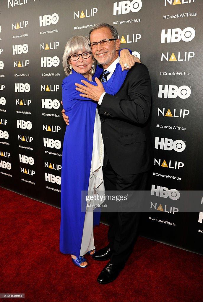 Actors Rita Moreno and Tony Plana attend the NALIP 2016 Latino Media Awards at Dolby Theatre on June 25, 2016 in Hollywood, California.