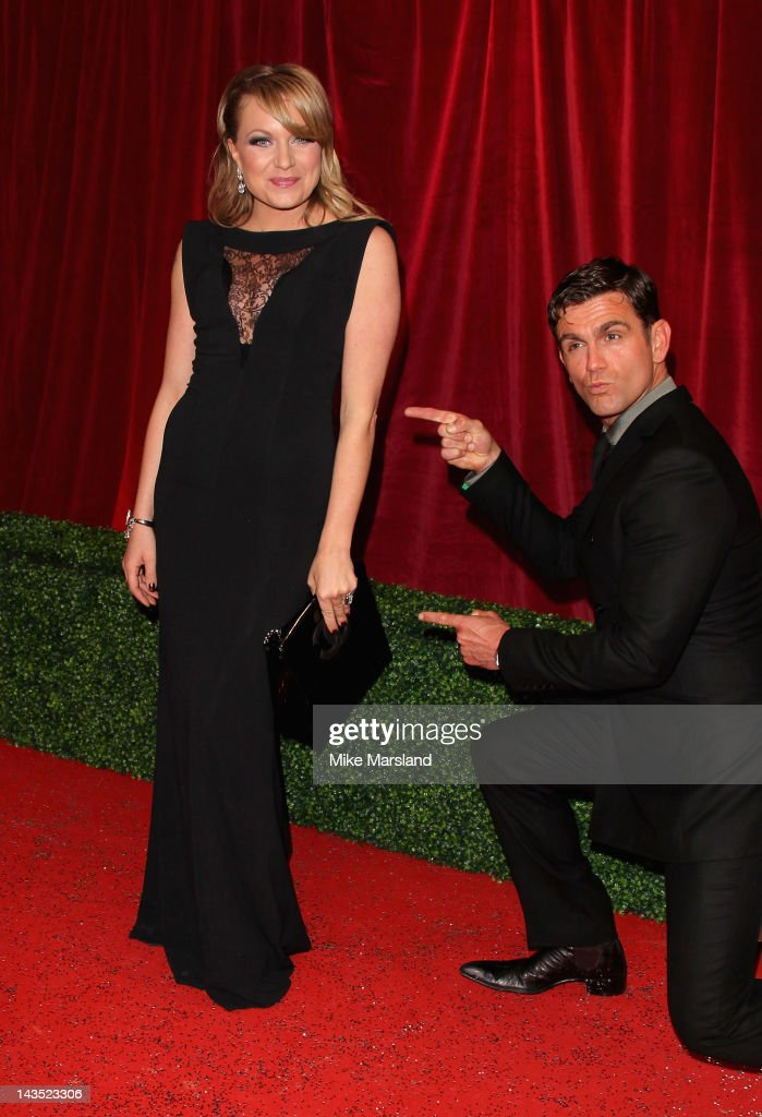 Actors Rita Simons and Scott Maslen attends the British Soap Awards at The London Television Centre on April 28, 2012 in London, England.