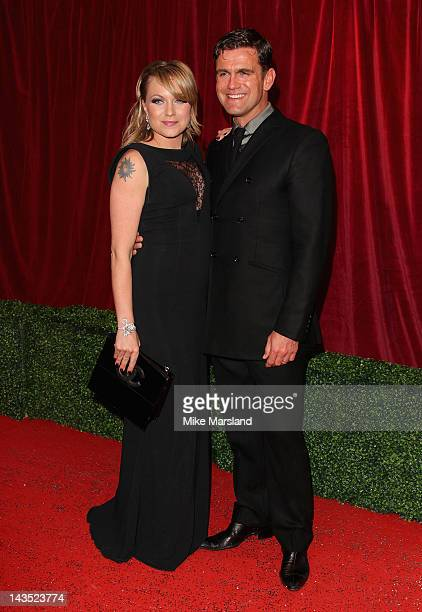 Actors Rita Simons and Scott Maslen attends the British Soap Awards at The London Television Centre on April 28 2012 in London England