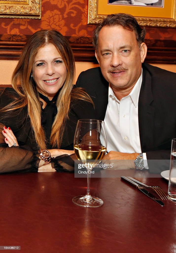 Actors <a gi-track='captionPersonalityLinkClicked' href=/galleries/search?phrase=Rita+Wilson+-+Actress&family=editorial&specificpeople=202642 ng-click='$event.stopPropagation()'>Rita Wilson</a> and <a gi-track='captionPersonalityLinkClicked' href=/galleries/search?phrase=Tom+Hanks&family=editorial&specificpeople=201790 ng-click='$event.stopPropagation()'>Tom Hanks</a> attend Sherie Rene Scott's performance at 54 Below on October 19, 2012 in New York City.