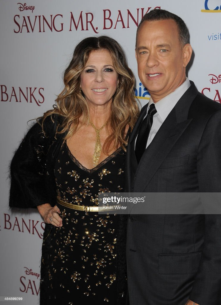 Actors Rita Wilson and Tom Hanks attend the U.S. premiere of Disney's 'Saving Mr. Banks', the untold backstory of how the classic film 'Mary Poppins' made it to the screen, at the Walt Disney Studios on December 9, 2013 in Burbank, California. The film opens this Holiday season.