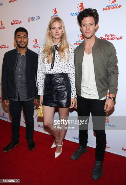 Actors Ritesh Rajan Emma Ishta and Kyle Harris attend the ComicCon International 2017 Fandango opening night party with special performance by Elle...