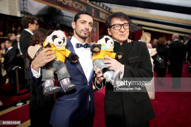 Actors Riz Ahmed and Jackie Chan attend the 89th Annual Academy Awards at Hollywood Highland Center on February 26 2017 in Hollywood California