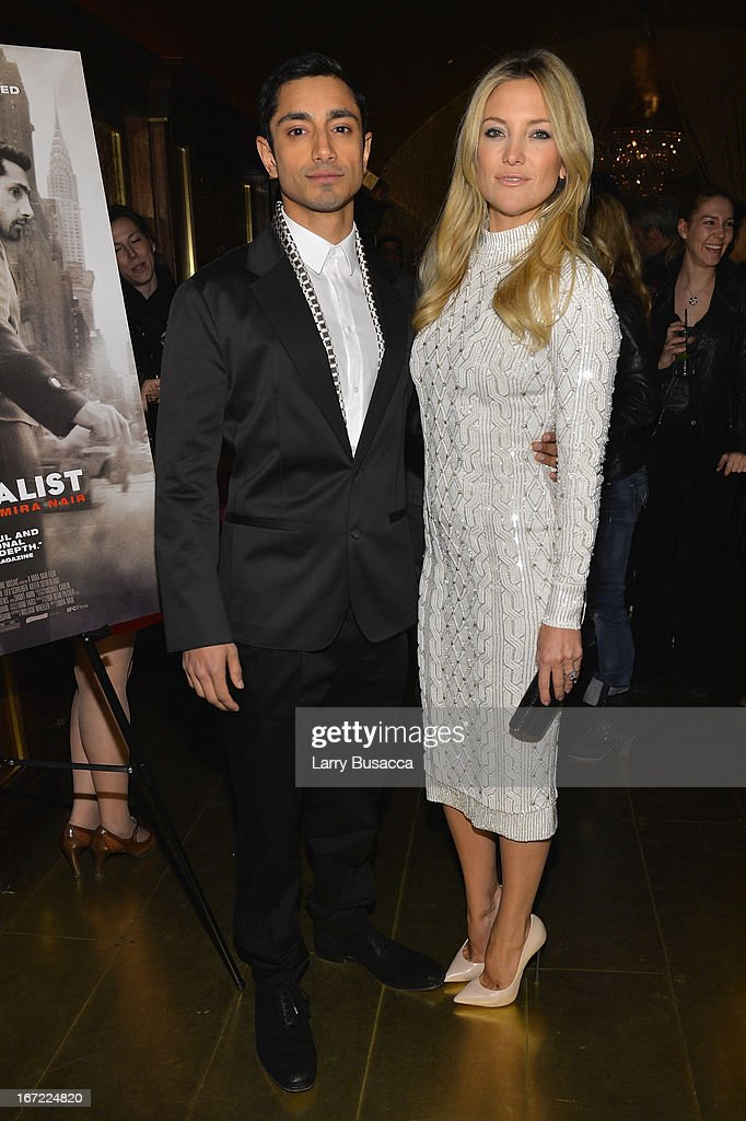 Actors Riz Ahmed and Kate Hudson attend the 'Reluctant Fundamentalist' Pre Party during the 2013 Tribeca Film Festival on April 22 2013 in New York...