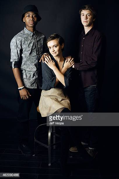 Actors RJ Cyler Olivia Cooke and Thomas Mann from 'Me Earl the Dying Girl' pose for a portrait at the Village at the Lift Presented by McDonald's...