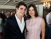 Actors RJ Mitte and Betsy Brandt attend the 2014 BAFTA Los Angeles TV Tea presented by BBC America and Jaguar at SLS Hotel on August 23 2014 in...