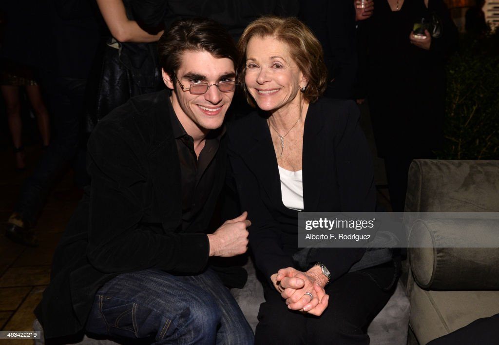 Actors <a gi-track='captionPersonalityLinkClicked' href=/galleries/search?phrase=RJ+Mitte&family=editorial&specificpeople=4542119 ng-click='$event.stopPropagation()'>RJ Mitte</a> (L) and <a gi-track='captionPersonalityLinkClicked' href=/galleries/search?phrase=Jessica+Walter&family=editorial&specificpeople=220269 ng-click='$event.stopPropagation()'>Jessica Walter</a> attend the Entertainment Weekly celebration honoring this year's SAG Awards nominees sponsored by TNT & TBS and essie at Chateau Marmont on January 17, 2014 in Los Angeles, California.