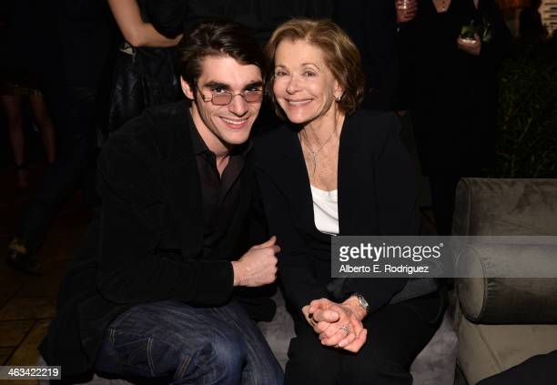 Actors RJ Mitte and Jessica Walter attend the Entertainment Weekly celebration honoring this year's SAG Awards nominees sponsored by TNT TBS and...