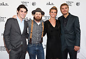 Actors RJ Mitte Brad Carter Faith Hill and Chris Zylka attend the 'Dixieland' Premiere during the 2015 Tribeca Film Festival at SVA Theater on April...