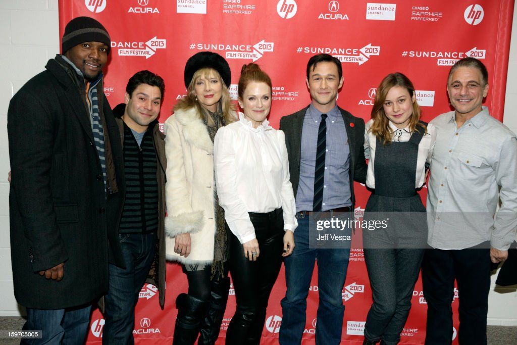 Actors Rob Brown, Jeremy Luke, <a gi-track='captionPersonalityLinkClicked' href=/galleries/search?phrase=Glenne+Headly&family=editorial&specificpeople=666564 ng-click='$event.stopPropagation()'>Glenne Headly</a> and <a gi-track='captionPersonalityLinkClicked' href=/galleries/search?phrase=Julianne+Moore&family=editorial&specificpeople=171555 ng-click='$event.stopPropagation()'>Julianne Moore</a>, actor/director <a gi-track='captionPersonalityLinkClicked' href=/galleries/search?phrase=Joseph+Gordon-Levitt&family=editorial&specificpeople=213632 ng-click='$event.stopPropagation()'>Joseph Gordon-Levitt</a> and actors <a gi-track='captionPersonalityLinkClicked' href=/galleries/search?phrase=Brie+Larson&family=editorial&specificpeople=171226 ng-click='$event.stopPropagation()'>Brie Larson</a> and <a gi-track='captionPersonalityLinkClicked' href=/galleries/search?phrase=Tony+Danza&family=editorial&specificpeople=203133 ng-click='$event.stopPropagation()'>Tony Danza</a> attend 'Don Jon's Addiction' Premiere during the 2013 Sundance Film Festival at Eccles Center Theatre on January 18, 2013 in Park City, Utah.