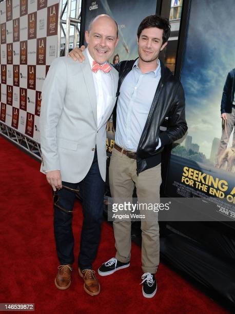 Actors Rob Corddry and Adam Brody arrive at the premiere of 'Seeking a Friend for the End of the World' at the 2012 Los Angeles Film Festival held at...