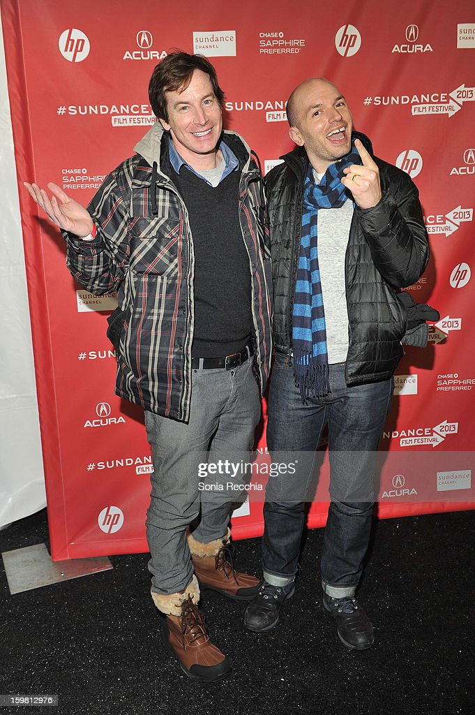 Actors Rob Huebel and <a gi-track='captionPersonalityLinkClicked' href=/galleries/search?phrase=Paul+Scheer&family=editorial&specificpeople=805513 ng-click='$event.stopPropagation()'>Paul Scheer</a> attend the 'Hell Baby' premiere at Library Center Theater during the 2013 Sundance Film Festival on January 20, 2013 in Park City, Utah.