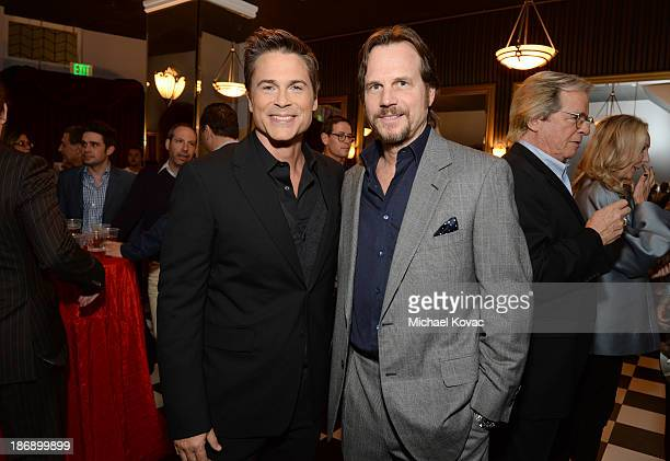 Actors Rob Lowe and Bill Paxton attend the 'Killing Kennedy' Los Angeles premiere at the Saban Theatre on November 4 2013 in Beverly Hills California