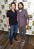 Actors Rob Lowe and Will Forte attend Comedy Central's 'Moonbeam City' press room during ComicCon International 2015 at the Hilton Bayfront on July 9...