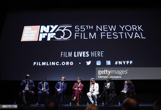 Actors Rob Morgan Jason Mitchell Jason Clarke Garrett Hedlund and Mary J Blige director Dee Rees and moderator NYFF Programmer Amy Taubin take part...