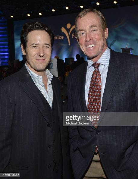 Actors Rob Morrow and John C McGinley attend the Visionary Award at the Venice Family Clinic's 32nd Annual Silver Circle Gala at The Beverly Hilton...