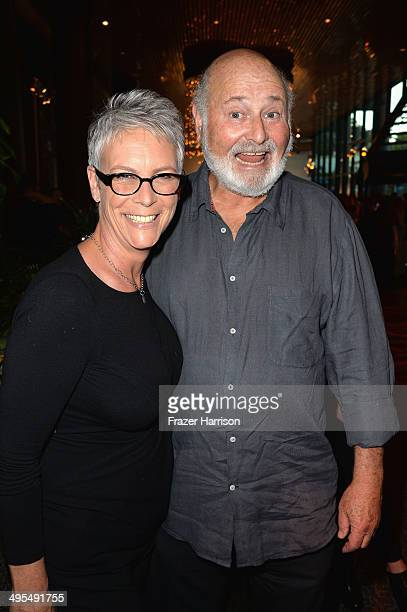 Actors Rob Reiner and Jamie Lee Curtis attend Los Angeles Premiere Of HBO Documentary 'The Case Against 8' reception at Directors Guild Of America on...