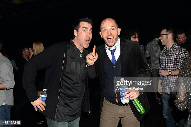 Actors Rob Riggle and Paul Scheer attend the Bud Light Hotel on February 1 2014 in New York City