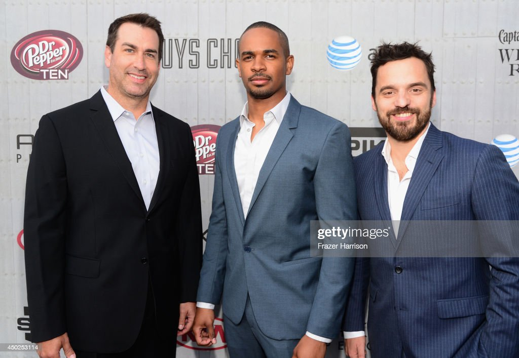 Actors Rob Riggle, Damon Wayans Jr. and Jake Johnson attend Spike TV's 'Guys Choice 2014' at Sony Pictures Studios on June 7, 2014 in Culver City, California.