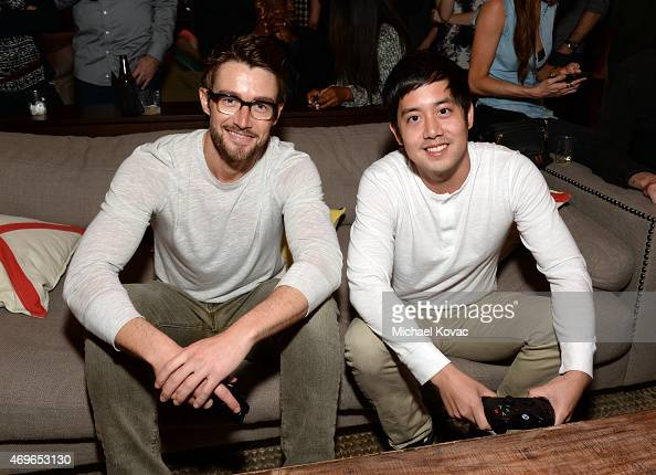 Actors Robert Buckley and Allen Evangelista attend the Mortal Kombat X Tournament at The Microsoft Lounge on April 13 2015 in Venice California
