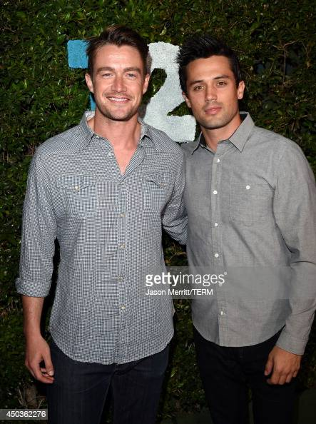 Actors Robert Buckley and Stephen Colletti attend the TakeTwo E3 Kickoff Party at Cecconi's Restaurant on June 9 2014 in Los Angeles California