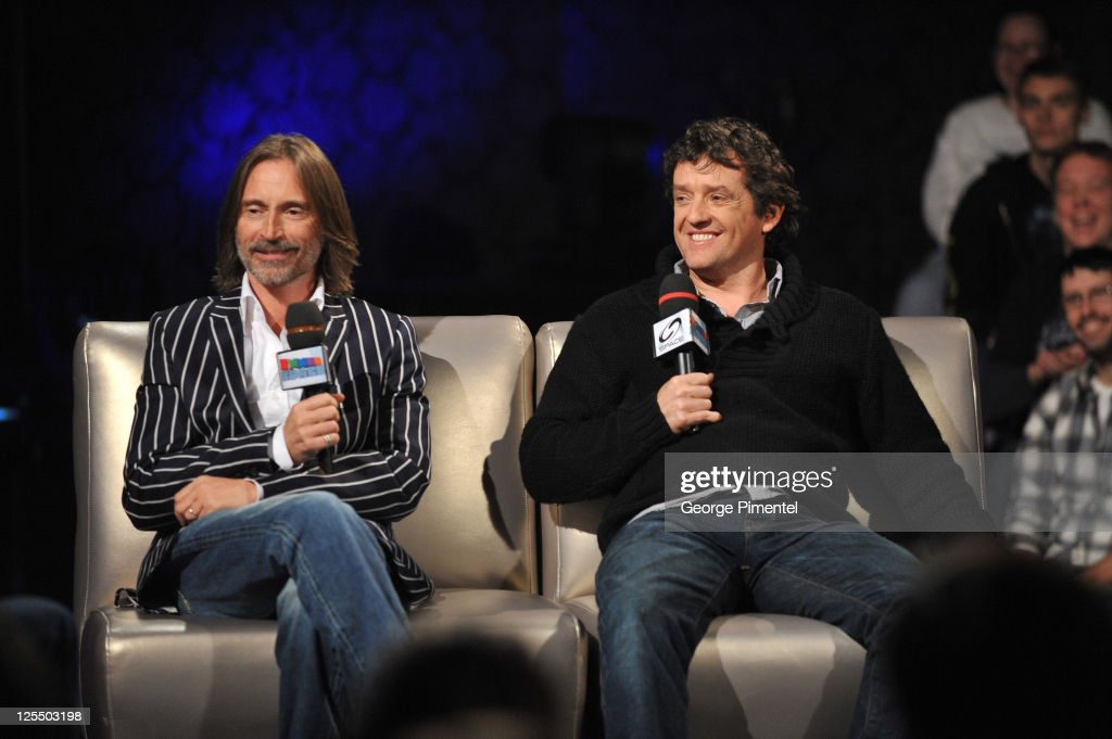 Actors Robert Carlyle and Louis Ferreira attend the Innerspace Stargate Universe Special at the Masonic Temple on November 12, 2010 in Toronto, Canada.