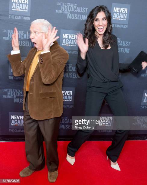 Actors Robert Clary and Daniela Ruah attend the United States Holocaust Memorial Museum Presents 2017 Los Angeles Dinner What You Do Matters at The...