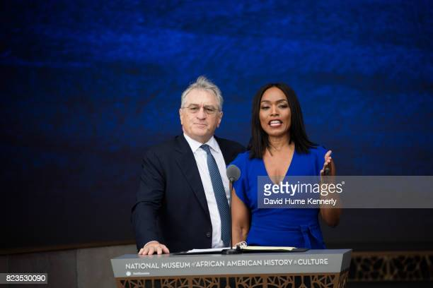 Actors Robert De Niro and Angela Bassett speak at the opening of the National Museum of African American History and Culture Washington DC September...