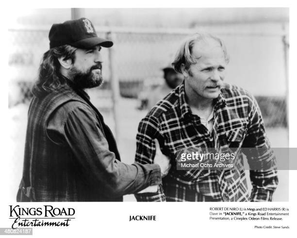 Actors Robert De Niro and Ed Harris in a scene from the movie 'Jacknife' circa 1989