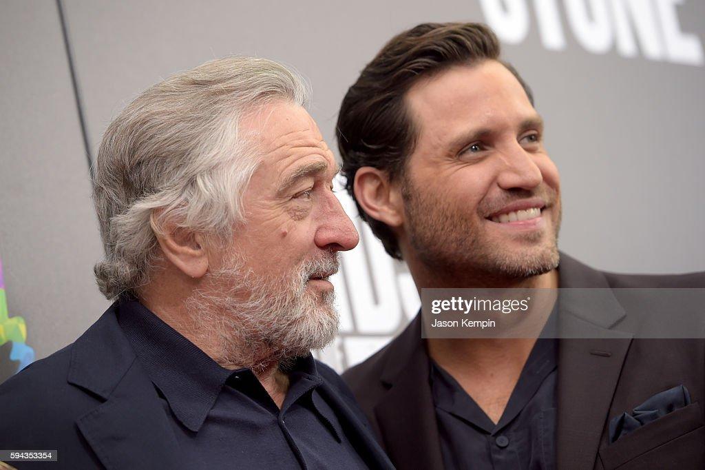 Actors Robert De Niro and Edgar Ramirez attend the New York Premiere Of 'Hands Of Stone' in Partnership with DeLeon Tequila NetJets The Redbury New...