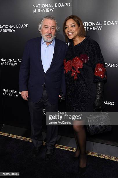 Actors Robert De Niro and Grace Hightower attend 2015 National Board of Review Gala at Cipriani 42nd Street on January 5 2016 in New York City