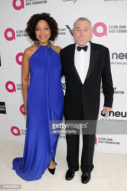 Actors Robert De Niro and Grace Hightower attend the 22nd Annual Elton John AIDS Foundation Academy Awards Viewing Party at The City of West...