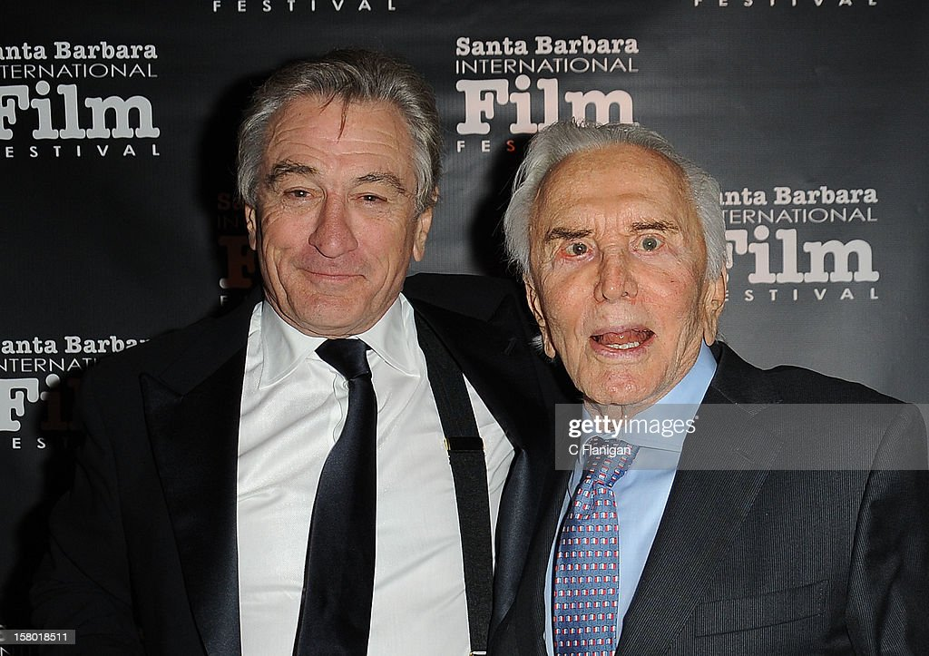Actors Robert De Niro (L) and Kirk Douglas attend the SBIFF's 2012 Kirk Douglas Award For Excellence In Film during the Santa Barbara Film Festival on December 8, 2012 in Santa Barbara, California.