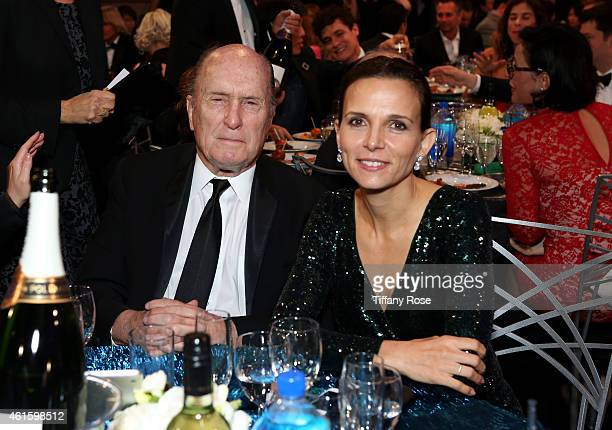 Actors Robert Duvall and Luciana Duvall attend the 20th annual Critics' Choice Movie Awards at the Hollywood Palladium on January 15 2015 in Los...