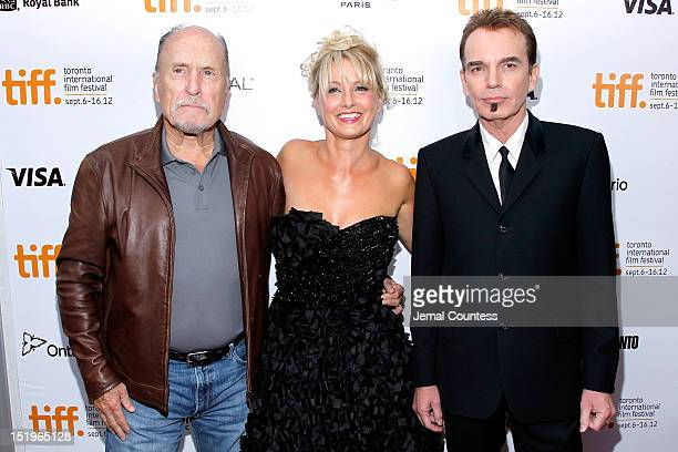 Actors Robert Duvall Katherine LaNasa and actor/filmmaker Billy Bob Thornton arrive at the 'Jane Mansfield's Car' Premiere during the 2012 Toronto...
