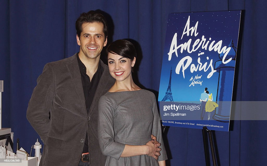 Actors Robert Fairchild and Leanne Cope attend 'An American In Paris' cast photo call at The New 42nd Street Studios on February 11 2015 in New York...