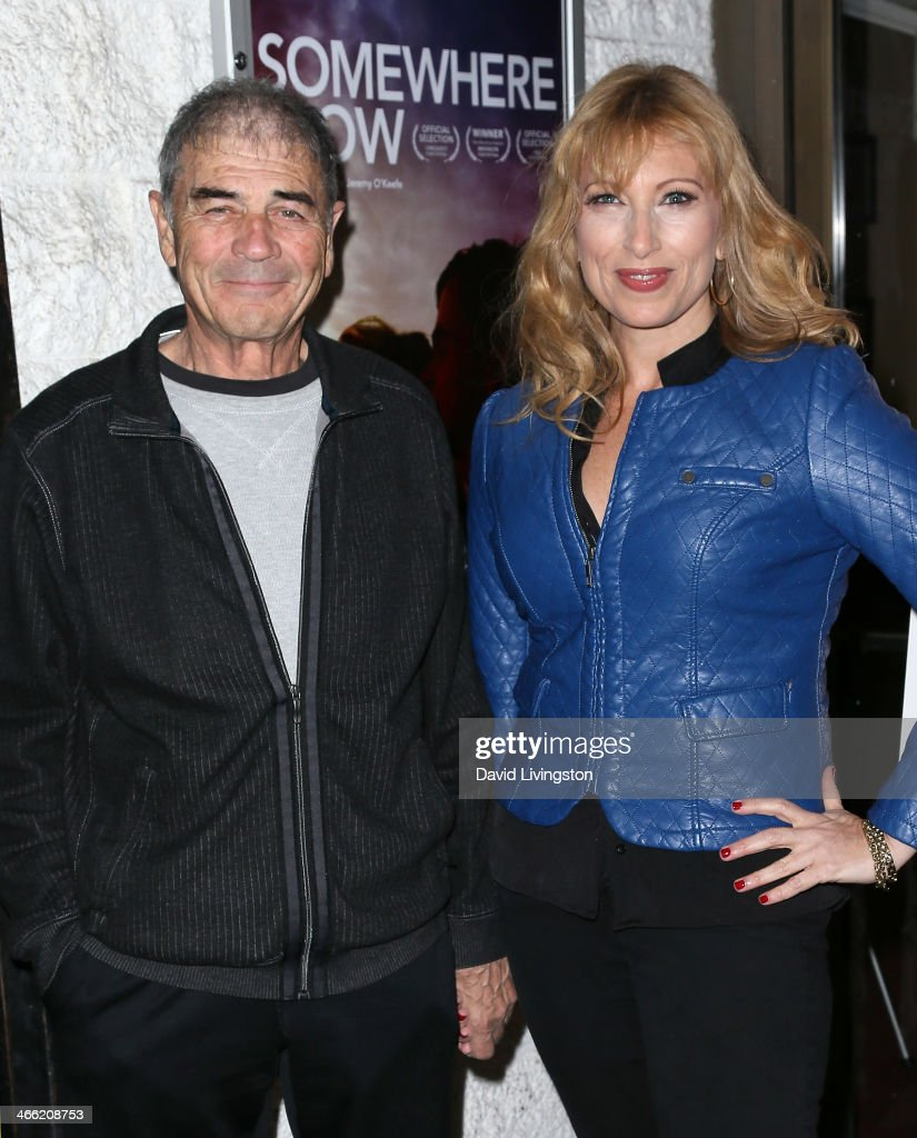 Actors Robert Forster (L) and Denise Grayson attend a screening of Logolite Entertainment & Screen Media Films' 'Somewhere Slow' at Arena Cinema Hollywood on January 31, 2014 in Hollywood, California.