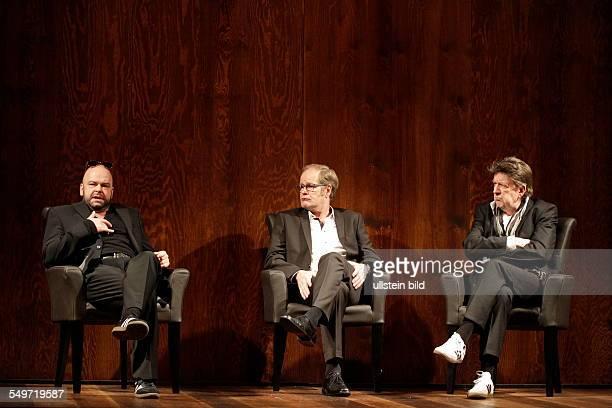 Actors Robert Gallinowski Jörg Gudzuhn and Guntbert Warns during a rehearsal of Theresia Walser's play 'EIN BISSCHEN RUHE VOR DEM STURM' in the...