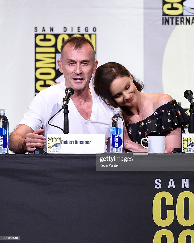 Actors Robert Knepper and Sarah Wayne Callies attend the Fox Action Showcase 'Prison Break' And '24 Legacy' during ComicCon International 2016 at San...