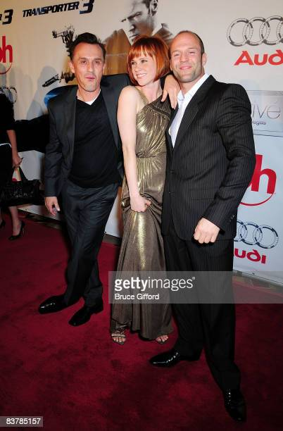 Actors Robert Knepper Natalya Rudakova and Jason Statham arrive to attend the Las Vegas premiere of 'Transporter 3' at Planet Hollywood Resort and...