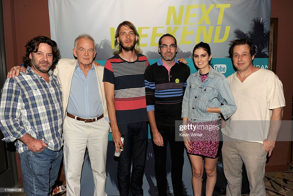 Actors Robert Longstreet, Paul Eenhoorn, Sundance Programmer Charlie Reff, director Chad Hartigan and actors Sam Buchanan and Richmond Arquette attend 'This Is Martin Bonner' premiere during NEXT WEEKEND, presented by Sundance Institute at Sundance Sunset Cinema on August 10, 2013 in Los Angeles, California.