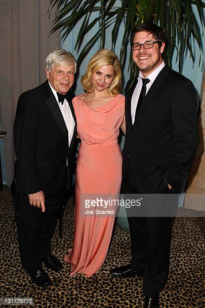 Actors Robert Morse Cara Buono and actor Rich Sommer attend AMC's 2011 Golden Globe Awards viewing and after party held at The Beverly Hilton hotel...