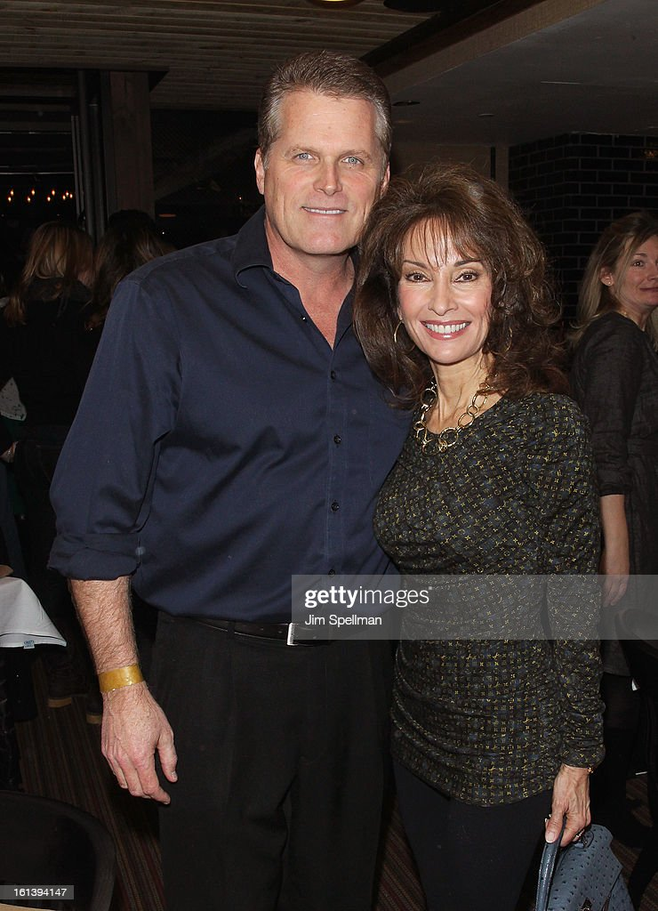 Actors Robert Newman and Susan lucci attend the 'Spontaneous Construction' premiere at Guy?s American Kitchen & Bar on February 10, 2013 in New York City.