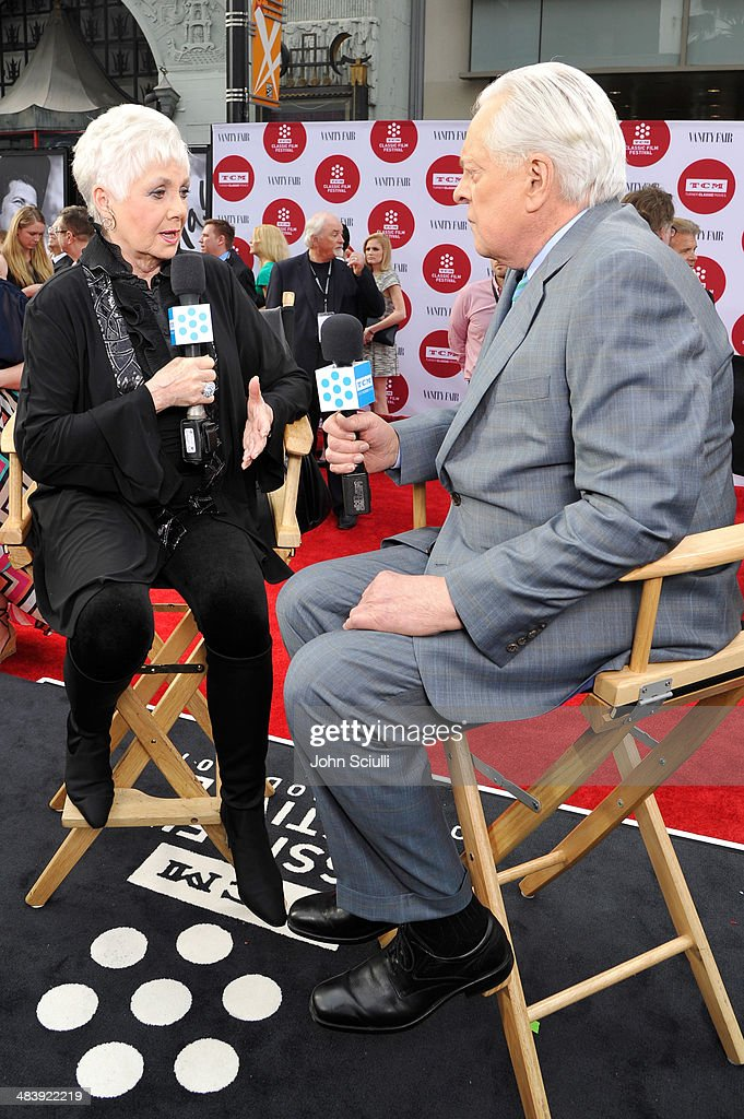 Actors Robert Osborne and Shirley Jones attend the opening night gala screening of 'Oklahoma' during the 2014 TCM Classic Film Festival at TCL...