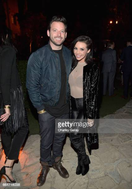 Actors Robert ParksValletta and Scheana Marie attend Amazon Original Series 'American Playboy The Hugh Hefner Story' premiere event at The Playboy...