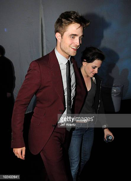 Actors Robert Pattinson and Kristen Stewart attend the after party for the premiere of Summit Entertainment's 'The Twilight Saga Eclipse' during the...