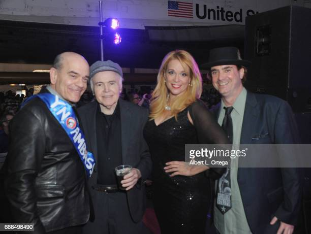 Actors Robert Picardo Walter Koenig Chase Masterson and Dr Harry Kloor attend Yuri's Night LA held on April 8 2017 in Los Angeles California
