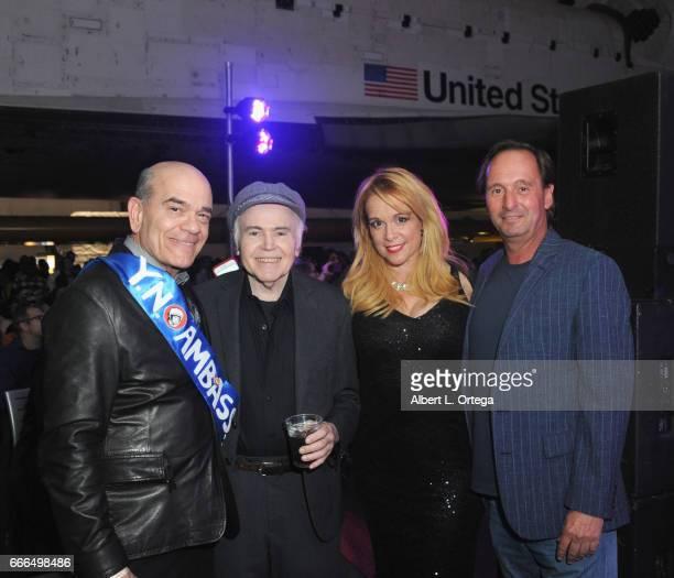 Actors Robert Picardo Walter Koenig Chase Masterson and producer Sky Conway attend Yuri's Night LA held on April 8 2017 in Los Angeles California