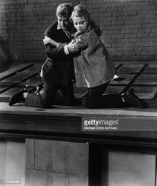 Actors Robert Redford and Jane Fonda in a scene from the movie 'Barefoot In The Park' in 1967 in New York City New York